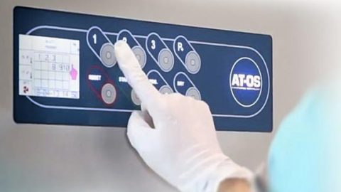 Opening and closing system of AT-OS bedpan washer disinfectors: Total commitment to safety.